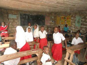 Klassrum i New Hope Childrens centre and Primary School Mombasa