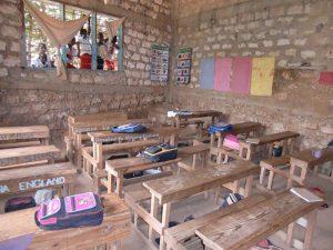 Klassrummet New Hope Childrens centre och Primary School Mombasa
