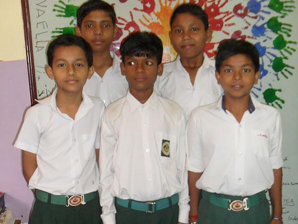 Skolbarn i Indien
