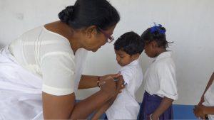 Vaccination i Theodoriskolan
