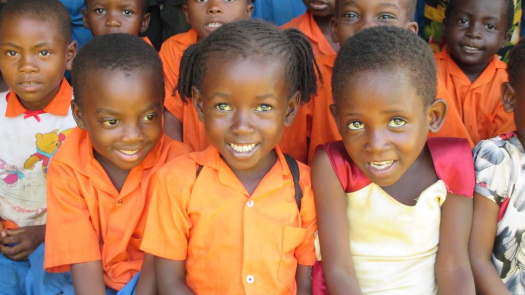 Skolbarn i Kenya