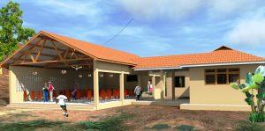 Skiss på den nya matsalen/aulan