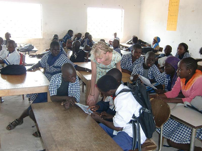 Klassrum i Sajuka skolan
