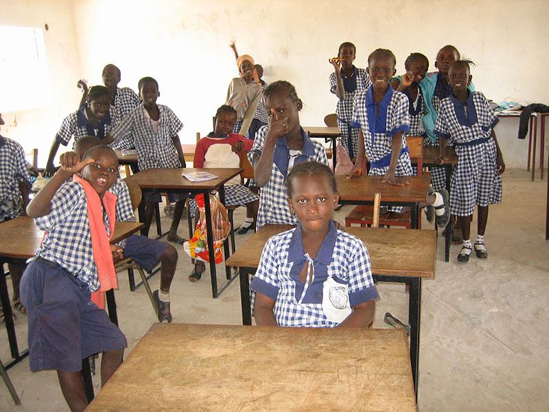 Klassrummet i Sajuka skolan