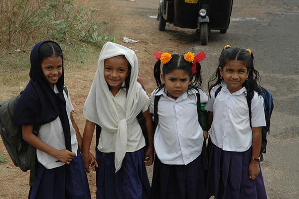 Skoluniform i Indien
