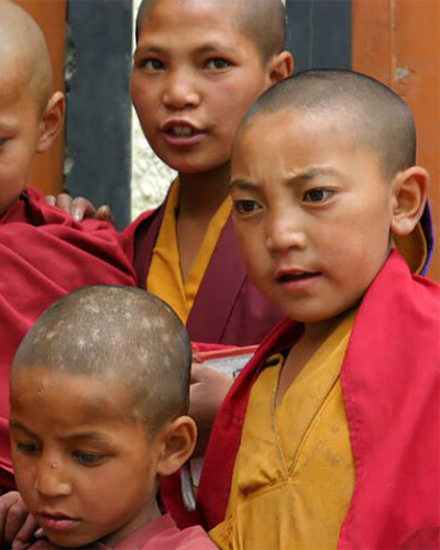 Barn från Tibet